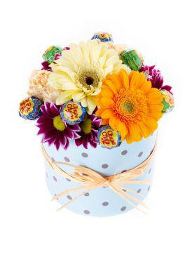 Flower box 13/13 s lízatkami modrý