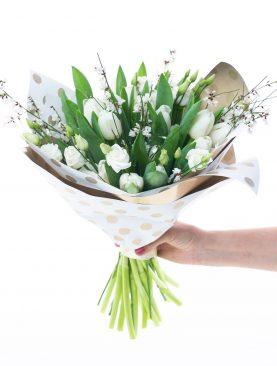 Kytica biele tulipány ZAĽÚBENIE