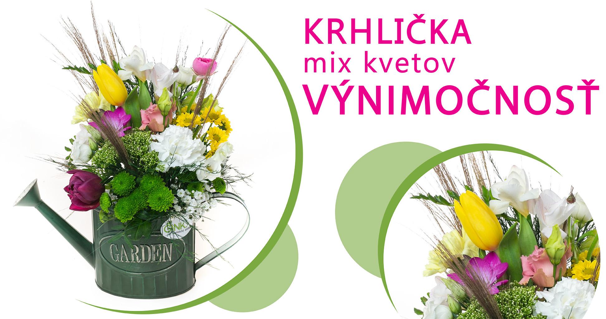 Krhlička mix kvetov VÝNIMOČNOSŤ